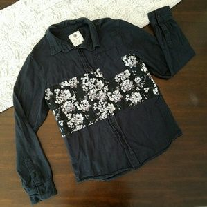 On the Byas Button Down Black Cotton